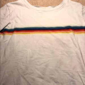 Brandy Melville tee shirt with rainbow